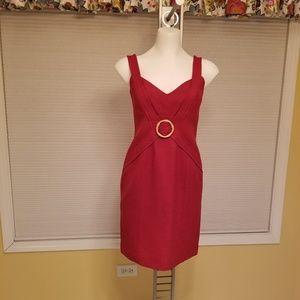David Meister Red dress (2)
